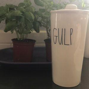 "Brand new Rae Dunn ""gulp"" travel mug"